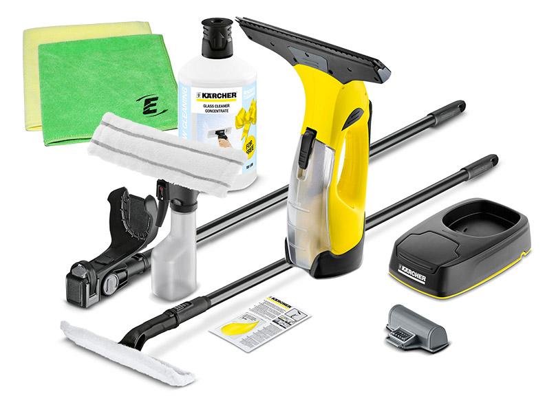 k rcher akku fenstersauger set wv 5 plus mit non stop cleaning kit. Black Bedroom Furniture Sets. Home Design Ideas