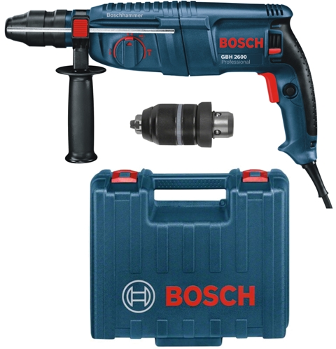 bosch sds plus bohrhammer gbh 2600 professional mit wechselfutter und koffer ebay. Black Bedroom Furniture Sets. Home Design Ideas