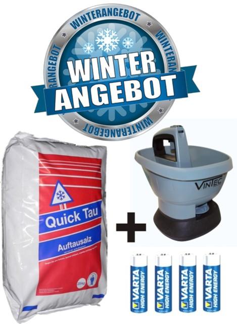 winter set 25 kg streusalz vintec handstreuer vt 1800 ebay. Black Bedroom Furniture Sets. Home Design Ideas