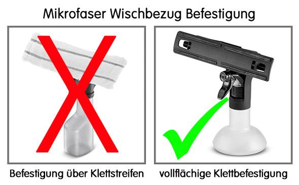 Kärcher Mikrofaser-Wischbezüge Indoor für Sprühflasche Standard//Extra